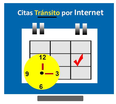 como agendar citas transito por Internet calendario con fecha y hora