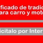 Certificado de Tradición de Carro y Moto por Internet Cali – Como solicitarlo