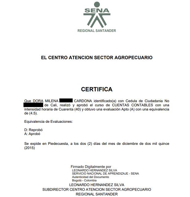 certificado del sena