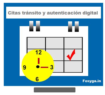 imagen de Calendario.como agendar citas tránsito y autenticación digital
