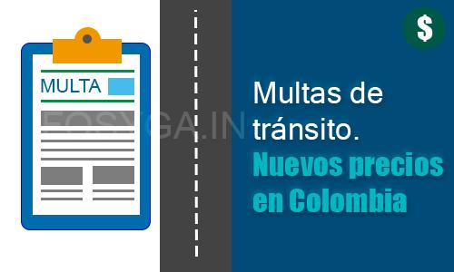 multas de tránsito más comunes